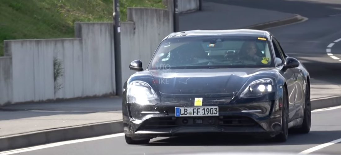 Porsche Taycan stepped into the Nurburgring