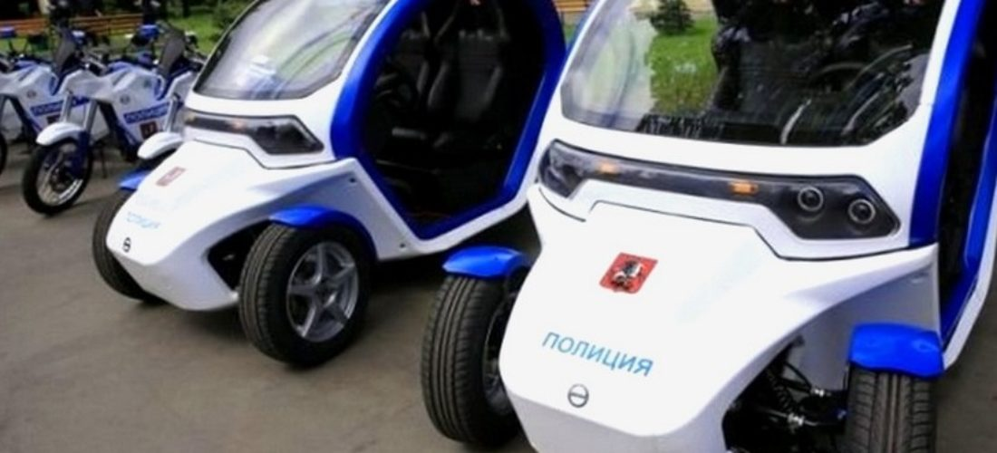 EV and ebikes for the Russian police at Mundial 2018