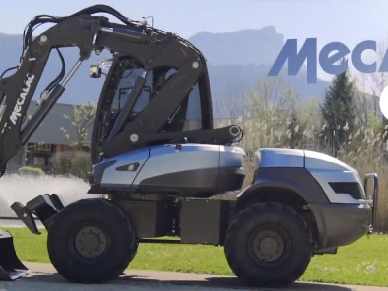 MECALAC e12 the world first electric excavator