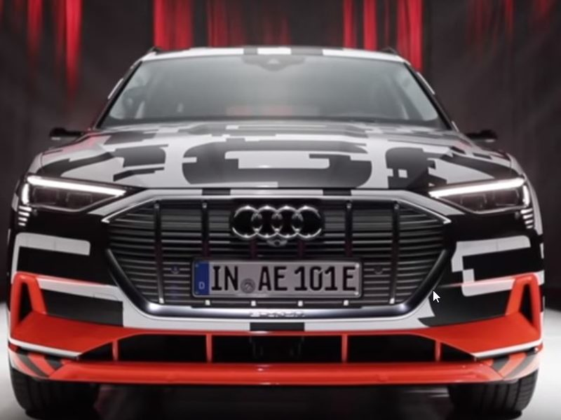 Audi E-Tron with automatic toll payment