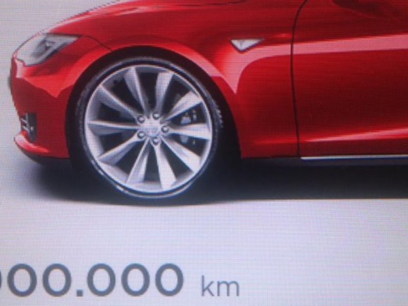 Tesla Model S has achieved a new mileage record