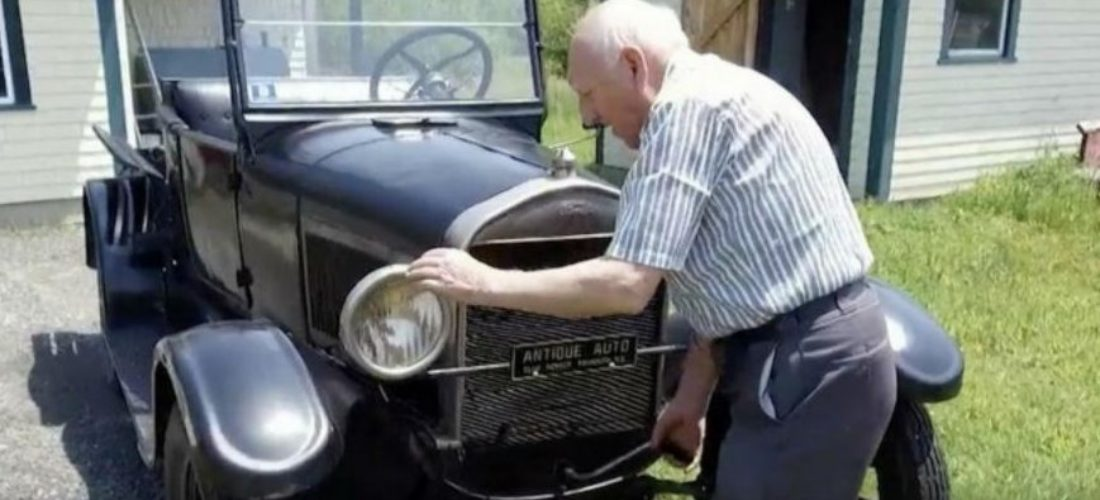 Incredible! 87 year old man has the same car for 70 years!