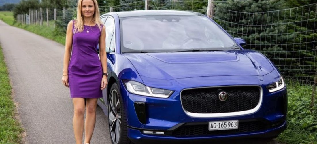 Jaguar I-Pace SUV 2019 review in a beautiful Swiss lake