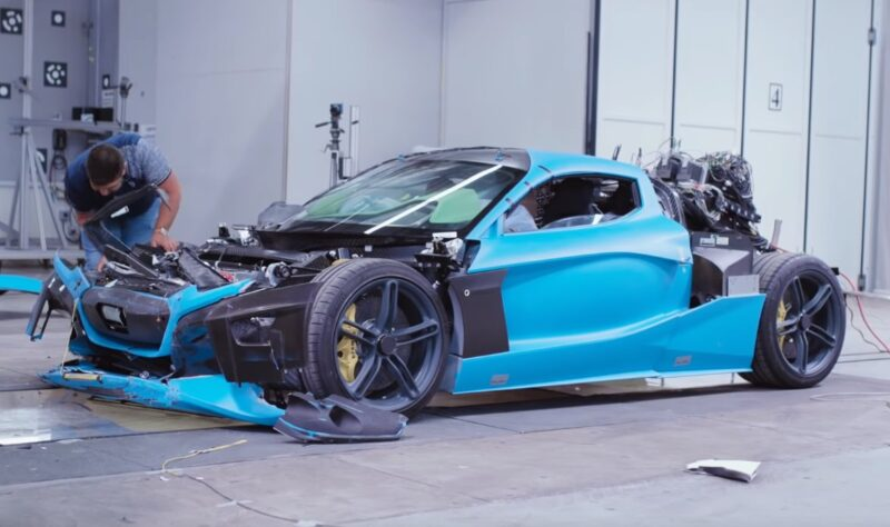 Rimac tests the passive safety of C_Two - video