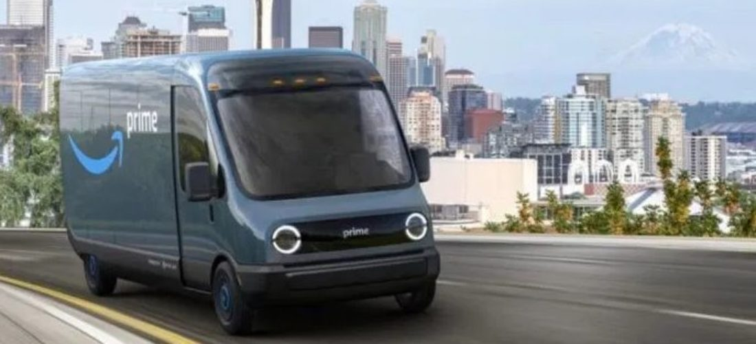 Amazon electric trucks with the assistance of Rivian