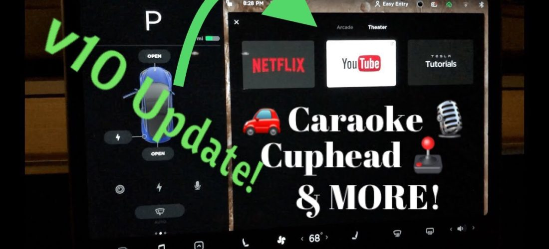 Watch Tesla V10 Software Update with Netflix YouTube and more