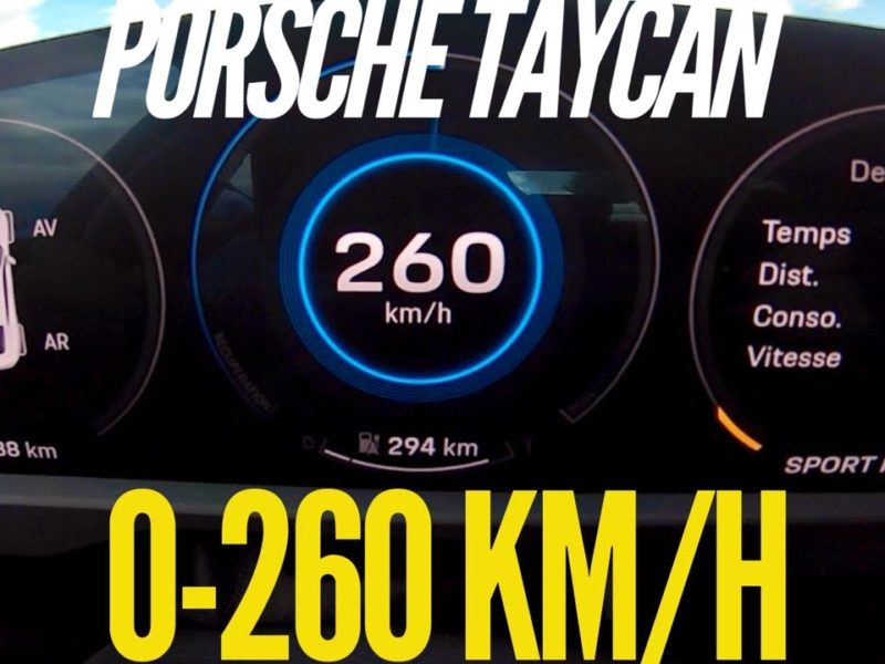 Porsche Taycan Turbo S impresses from 0 to 260 km/h