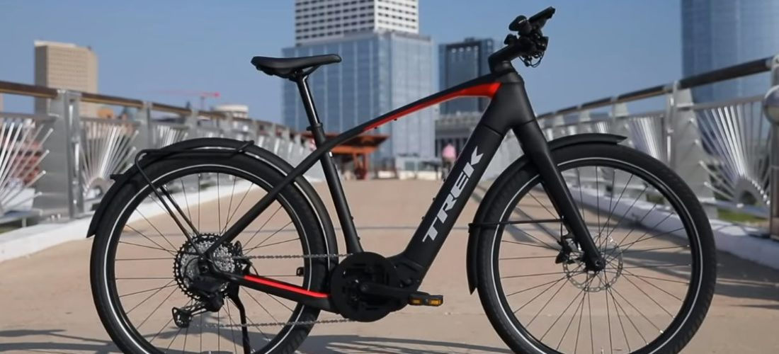 Trek Allant+ e-bike with battery 625Wh and 45 km/h top speed
