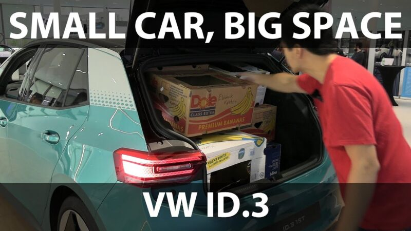 Watch Volkswagen ID.3 banana box test | Bjørn Nyland