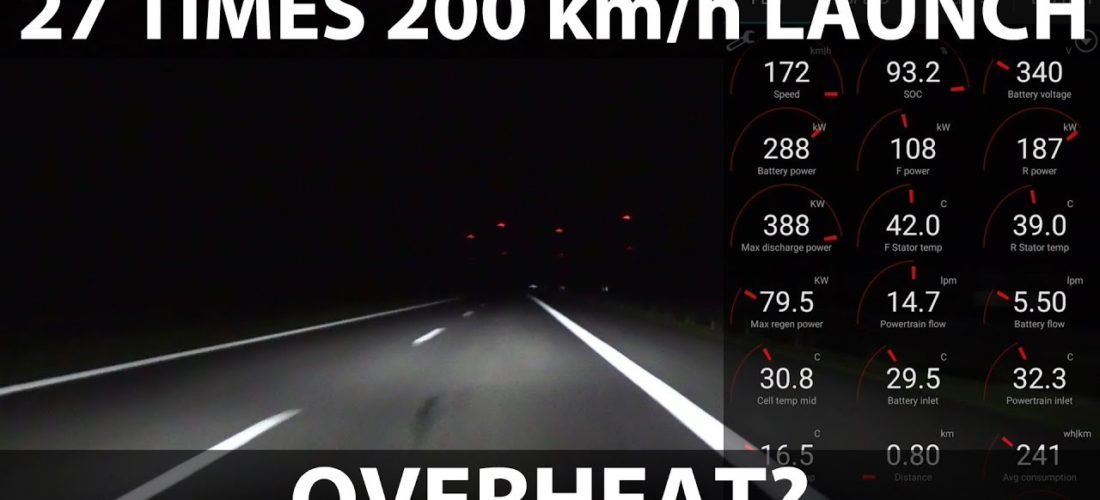 Watch Tesla Model 3 launching to 200 km/h 27 times in a row