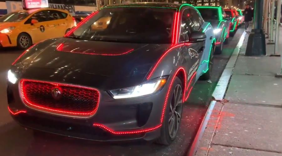 Jaguar I-Pace with Christmas