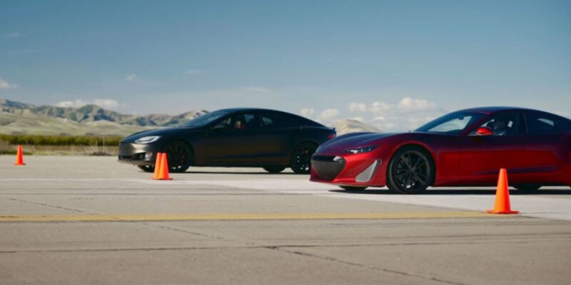 Watch Drako GTE 1200 hp vs Tesla Model S P100D