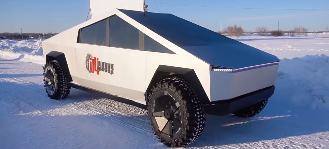 Cybertruck copy from Russia has been completed | video