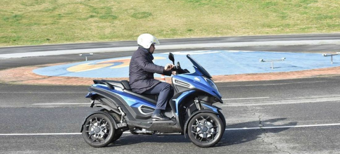 Electric quad bike with roof prepared by Qooder