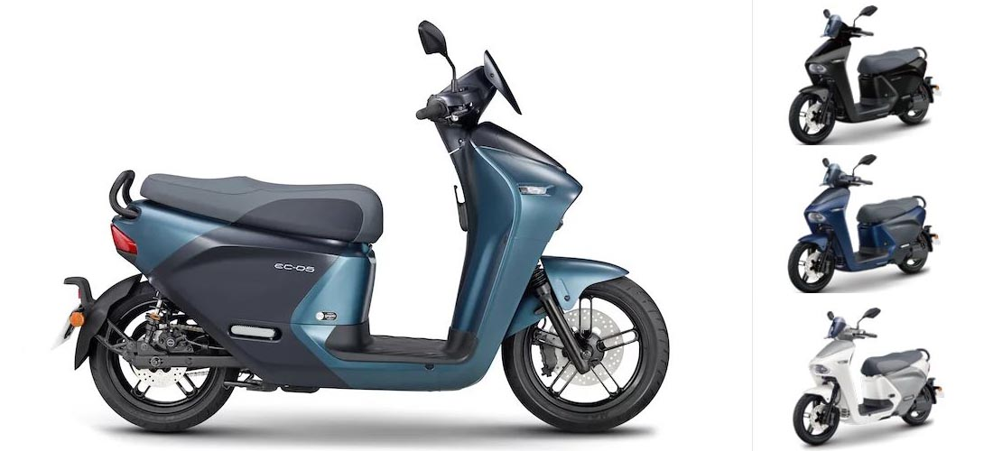 Yamaha EC-05 e-scooter available in Taiwan
