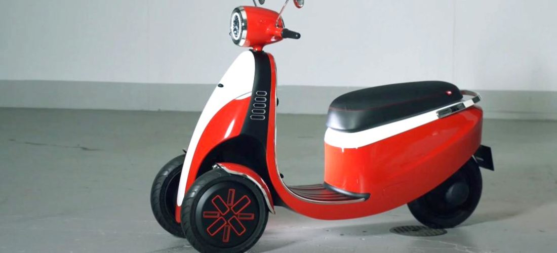 Microletta three wheeled electric scooter concept