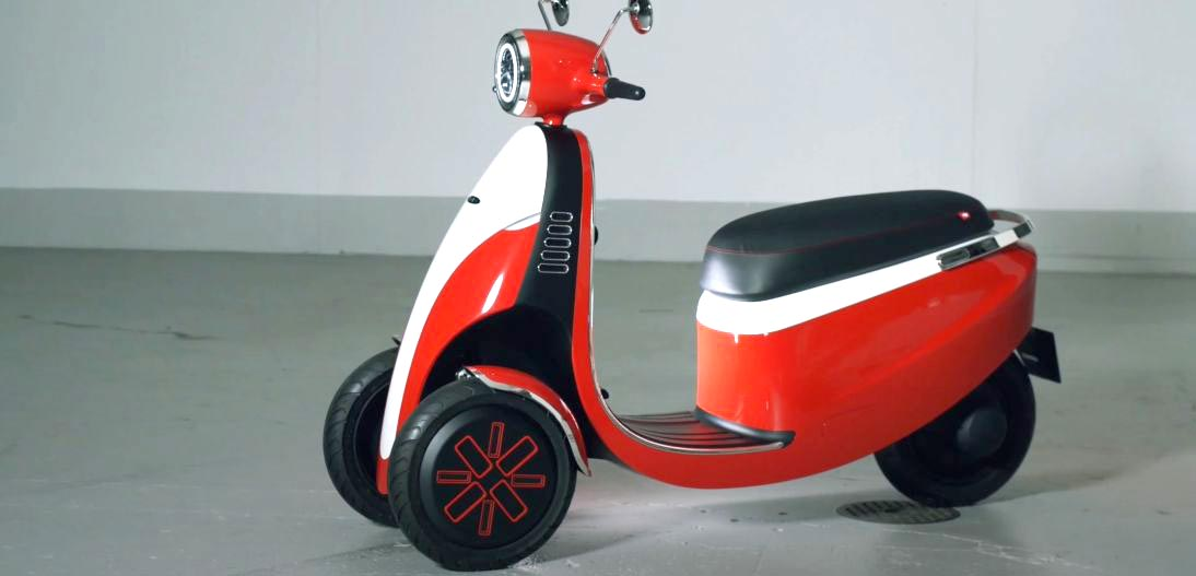 New Microletta three wheeled electric scooter concept