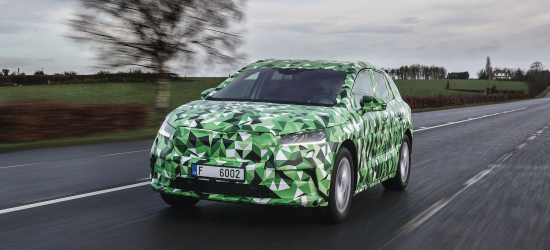Skoda ENYAQ iV electric first camo photos