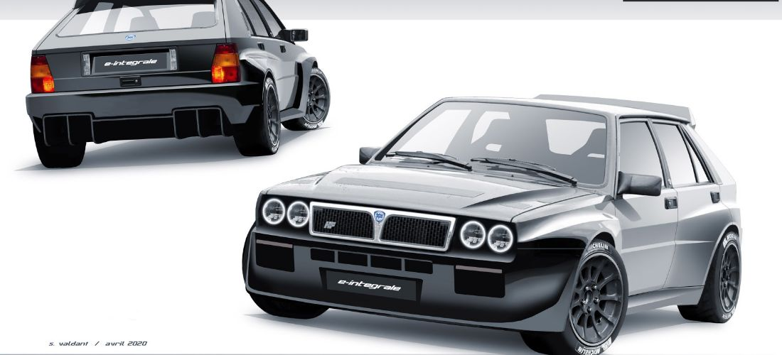 Electric Lancia Delta Integrale from GC Kompatition