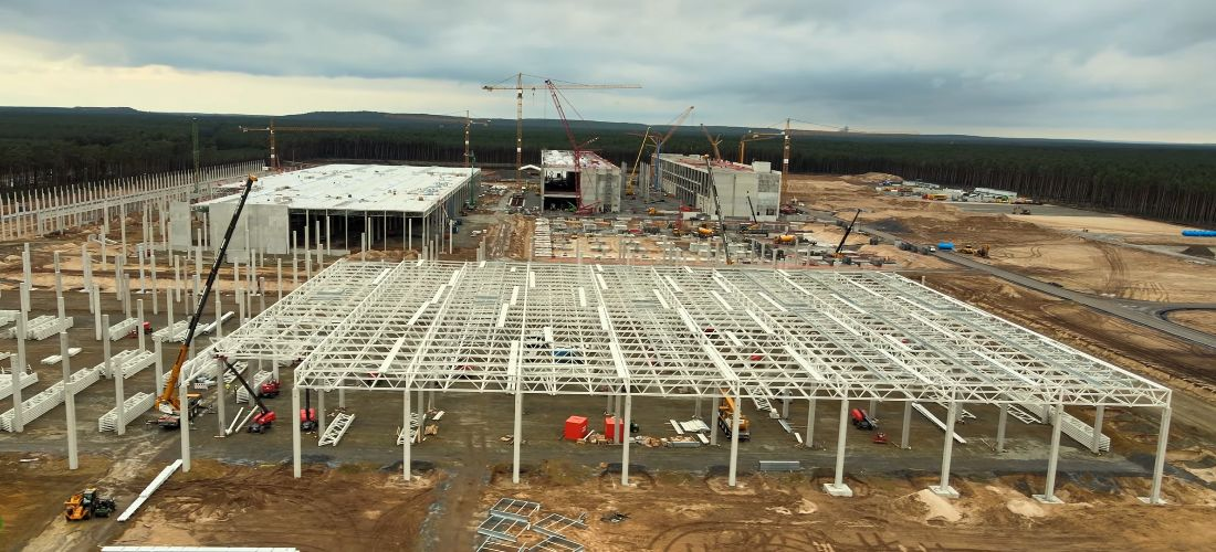 Gigafactory 4 Giga Berlin progress end of Septemper