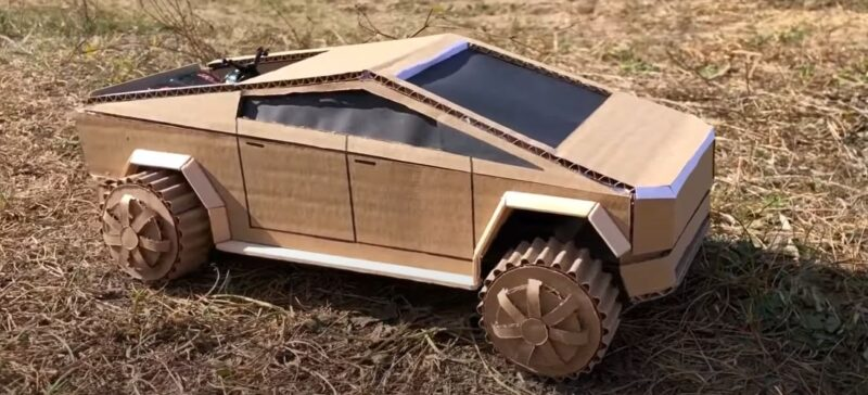 This is the first handmade Cybertruck and at minimal cost