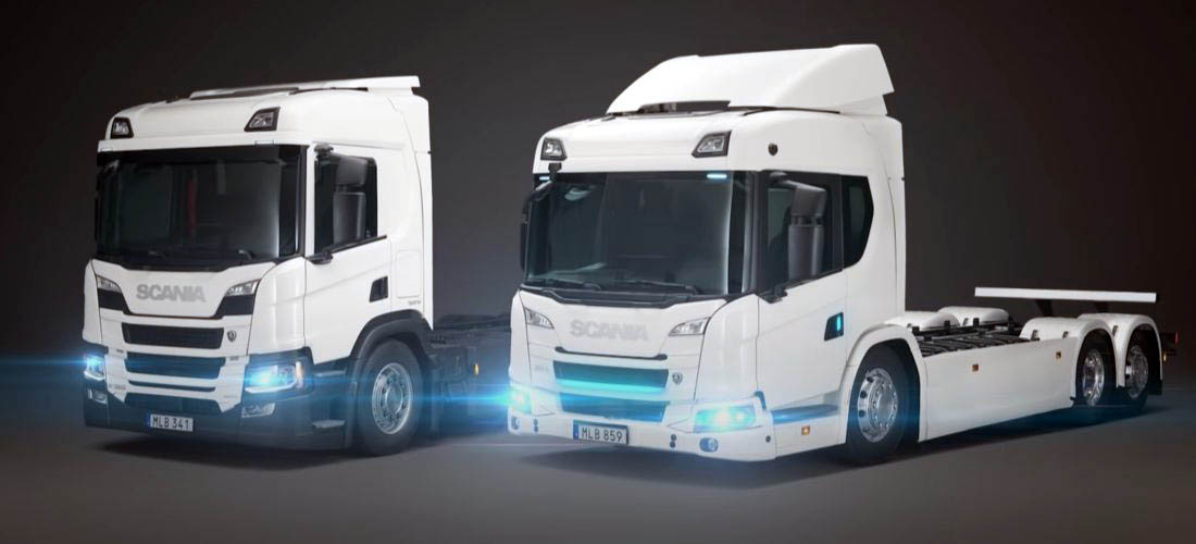 New Scania electric and Hybrid Trucks