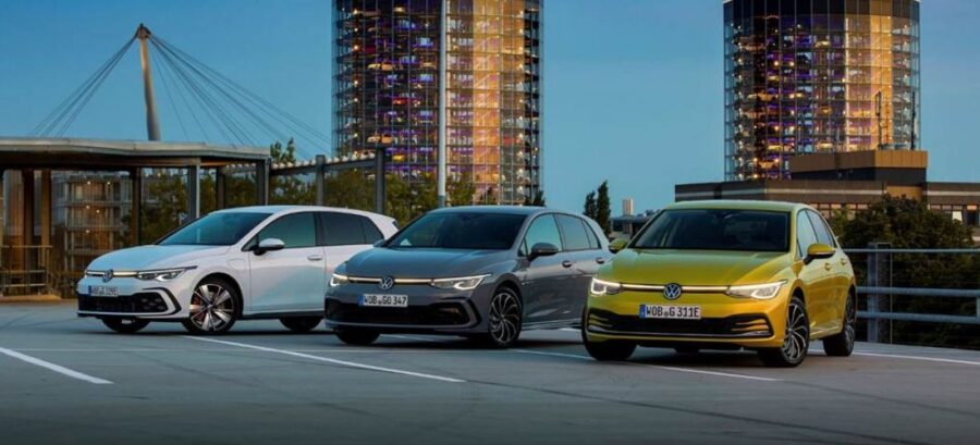 VW launches 5 different hybrid versions of the new Golf