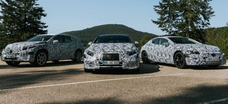 Watch 2021 Mercedes EVs lineup with heavy camouflage