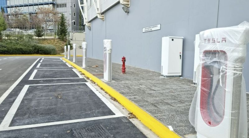 First Tesla Superchargers have been installed in Athens