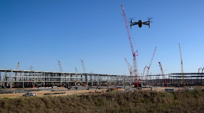 Watch Giga Texas progress at the mid-January 2021