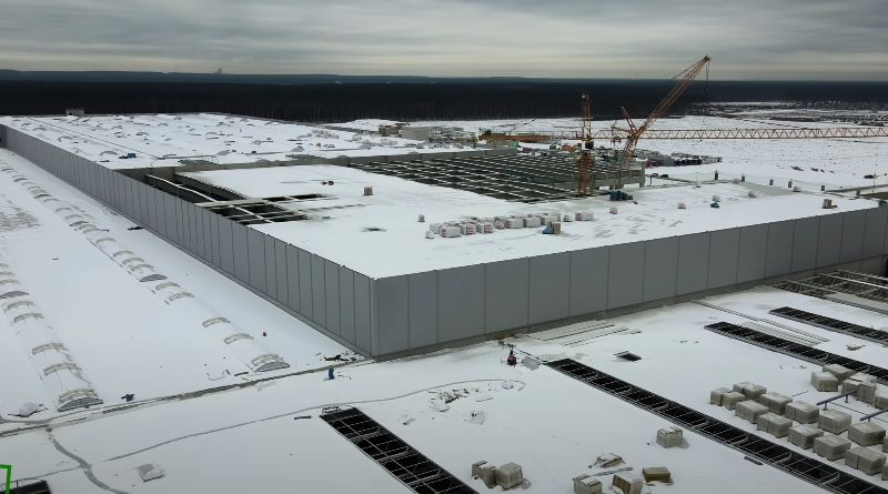 Tesla Giga Berlin Gigafactory progress mid-February 2021