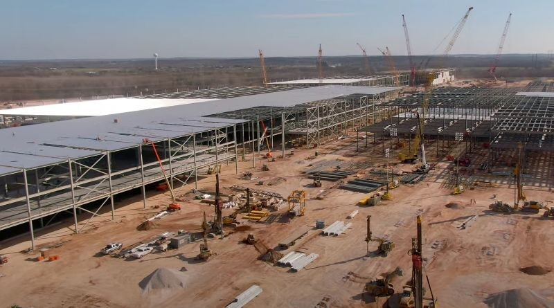 Tesla Giga Texas Gigafactory Austin early February 2021