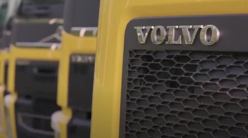 Testing with electric trucks by DHL and Volvo in Sweden