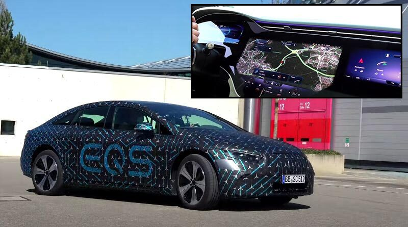 New electric Mercedes EQS drive review | Video