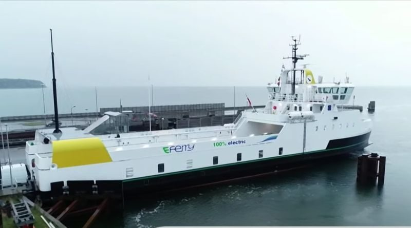 The world's largest E-ferry on routes in Denmark