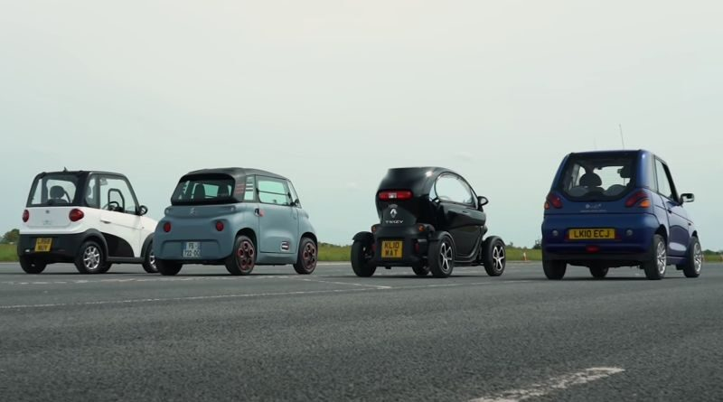 Watch the most slow Drag Race with electric cars