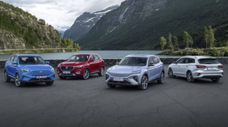 MG unveils its new electric family